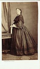 Photo cdv : Denisse & cie ; Dame de la bourgeoisie Bordelaise , vers 1865