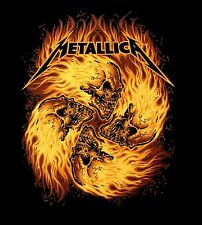 METALLICA cd SKULL CIRCLE IN FLAMES Official SHIRT SMALL new