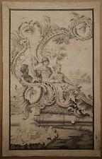 Dessin Ancien Encre Scène CURIOSA Louis XV XVIIIe c.1770 Proche JEAN PILLEMENT