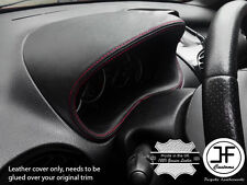 RED STITCH GAUGE SPEEDO HOOD LEATHER COVER FITS PEUGEOT 206 206 CC 1998-2012