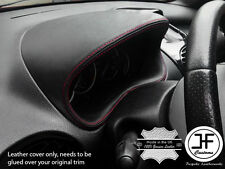 Red Stitch calibro speedo Cover in Pelle Cappuccio si adatta a Peugeot 206 206 CC 1998-2012