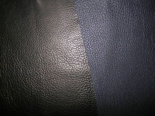 "NAVY (Almost Black) Deer Hide Leather Scraps 6.5""x18.5"" avg 1.5mm thick #2437"