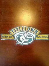 New,sharp... Steal A Deal. Famous Titletown Patch Of The Packers