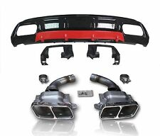 A45 AMG Diffusor & Endrohre Kit For A Klasse W176 Styling Diffuser Tailpipes #05