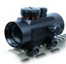 New Tactical 1X30 Red / Green Dot Sight 5 MOA Reticle Scope with 20mm Rail Mount
