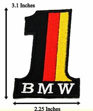 Number 1 BMW Logo Badge Embroidered Band Racing Car Biker Iron On Patch Cool