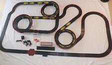 Huge AFX Tomy 50.25' Giant Raceway HO Track Set, 2 Tomy Super G-Plus Slot Car