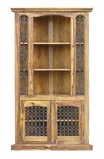 JALI TALL CORNER CABINET/ 100% REAL INDIAN SHEESHAM WOOD/ FARM HOUSE FURNITURE
