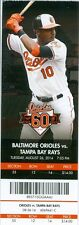 2014 Orioles vs Rays Ticket: Caleb Joseph recorded two hits & knocked in a pair