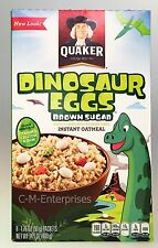 Quaker Dinosaur Eggs Brown Sugar Instant Oatmeal Hot Cereal 14.1 oz