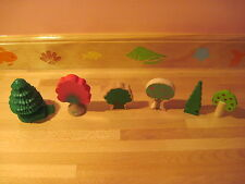 Wooden / Plastic Trees (6) for Thomas Trains Wooden Railway
