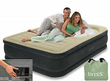 Intex Qween Size Air bed Fibre Tech Comfort Pillow Rest with Pump #64436