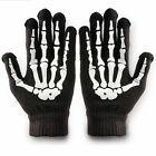 Skeleton Gloves Bones Hands Mens Womens Skull Hand Reaper Adult Mitten Black