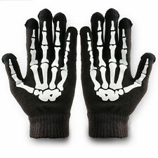 Skeleton Gloves Bones Hands Mens Womens Skull Hand Reaper Adult Mitten Black