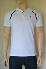 NEW Abercrombie & Fitch Vintage Sport Polo Shirt White Moose M