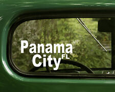 Panama City Florida Decal Sticker (2) for Cars, Truck, Laptop