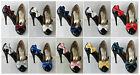 DOUBLE BOW SHOE CLIPS IN VARIOUS COLOURS OF PLAIN SATIN