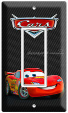 NEW CARS 2 LIGHTNING MCQUEEN DISNEY SINGLE GFI LIGHT SWITCH BOYS ROOM DECORATION