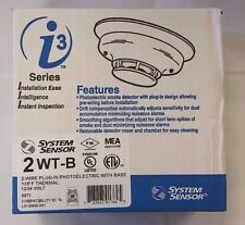 System Sensor 2-Wire Plug in Photoelectric Smoke Detector with base [2WT-B]