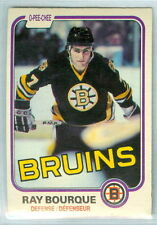 RAY BOURQUE 1981-82 O-Pee-Chee OPC '81 Hockey Card #1 VGEX NHL Boston Bruins e