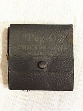 Vintage Peg-O Travel Peg Checkers in Paper Folding Case Pocket Size