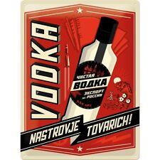 Russischer Vodka Blechschild Schild Blech Metall Metal Tin Sign 30 x 40 cm