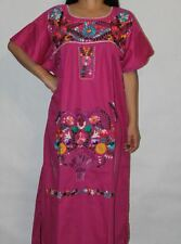 Small Assorted Colors Peasant Vintage Tunic Embroidered Mexican Dress Boho