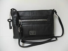Fossil Dawson cross body black  bag new with tags