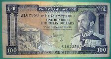 ETHIOPIA 100 DOLLARS NOTE FROM 1966,  P 29, HAILE SELASJE