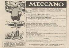 Z1010 Prodotti MECCANO di fama mondiale - Pubblicità d'epoca - 1934 Old advert