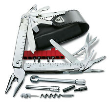VICTORINOX PINCE MULTIFONCTIONS SWISSTOOL PLUS 2 42 OUTILS + ETUI CUIR 3.0339.L