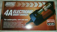 6V 12V Smart Battery Charger Car Caravan Van Motorbike Motorcycle MP7423 12 Volt