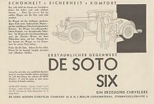 Y4355 Automobile DE SOTO SIX Chrysler - Pubblicità d'epoca - 1929 Old advert