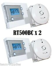 SALUS RT500BC DIGITAL PROGRAMMABLE WIRELESS ROOM THERMOSTAT BOILER CONTROL x 2