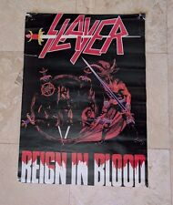 """Slayer Poster - 22"""" x 16"""" - Reign In Blood - Rare OOP!"""