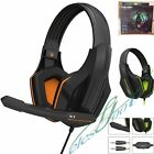 Gaming Headset Surround Stereo Headband Headphone 3.5mm with Mic for PC Notebook
