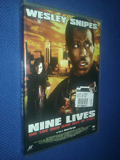 cofanetto+DVD NUOVO Film NINE LIVES On the run and out of time con Wesley Snipes