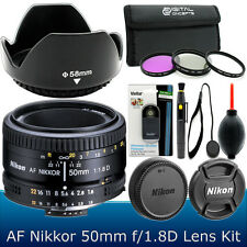 Nikon 50mm f/1.8D AF Nikkor Lens Kit for Nikon D3300 D3200 D5300 D5200