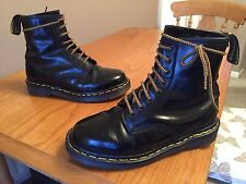 Vintage Dr Martens 1460 Black leather boots UK 5 EU 38 skin punk goth ENGLAND.