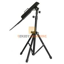 Adjustable Metal Music Sheet Stand Folding Stands Holder for Musicians Black