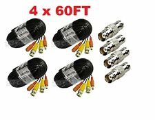 Premium Quality 4x60Ft Video and Power Cable for Zmodo CCTV Security Cameras