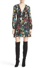 ALICE & OLIVIA CARY PRINT BLOUSON FIT & FLARE DRESS sz 4