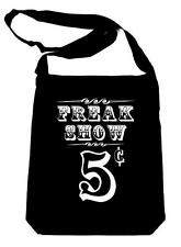 Freak Show Poster Black Sling Bag Book Goth Punk Emo Side Show Oddities Carnival