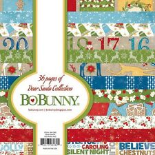 Bo Bunny Dear Santa Collection 6 x 6 Paper Pad scrapbook BoBunny new 6x6
