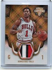 2015-16 TOTALLY CERTIFIED #TCM-DR DERRICK ROSE 3-COLOR PATCH GOLD SP #9/10 BULLS