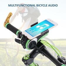Bike Bluetooth Audio Phone Holder Bracket MP3 Speaker 4400mAh Power Bank Bell