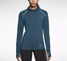 Womens Nike Sprint Fleece Dri-fit Long Sleeve Running Shirt Blue Small NWT $95