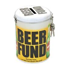 Saving Fund Lockable Money Tin Box - Gift - Beer Fund