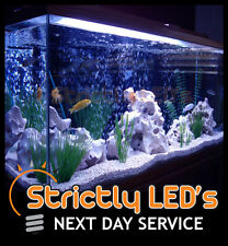 LED blu strisce Acquario Fish Tank Lighting Set Striscia Luci RESISTENTE ALL' ACQUA 100 cm