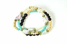 ELEGANT  LADIES CHUNKY MULTI LAYER COLORFUL BRACELET STUNNING (ST52)
